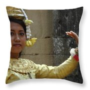Cambodian Dancer Throw Pillow