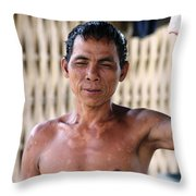 Cambodian Dignity Throw Pillow