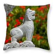 Cambodian Lion Throw Pillow