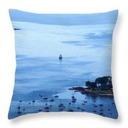 Camden Harbor Throw Pillow