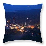 Camden Hills Mount Battie Dusk View Throw Pillow