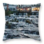 Camden Maine Waterfalls Throw Pillow