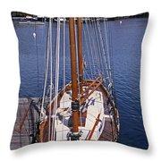 Camden Tall Ship Throw Pillow