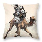 Camel & Rider Throw Pillow
