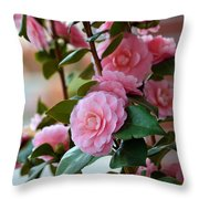 Camellia Floral Throw Pillow