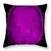 Cameo In Purple Throw Pillow