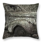 Camouflage Classic Car Throw Pillow