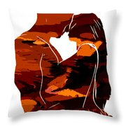 Camouflage Lovers Throw Pillow