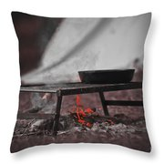 Camp Fire  Throw Pillow