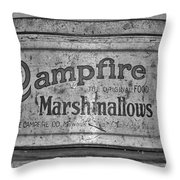 Campfire Marshmallows Throw Pillow