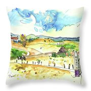 Campo Maior In Portugal 01 Throw Pillow