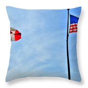 Can Usa Throw Pillow