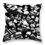 Can You Guess What This Is    Bw Throw Pillow