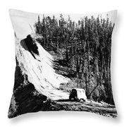 Canada: Alaska Highway Throw Pillow