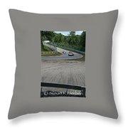 Canada Corner Elkhart Lake Throw Pillow