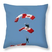 Canada Day Flight Throw Pillow