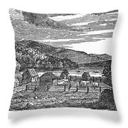 Canada: Farm, C1820 Throw Pillow