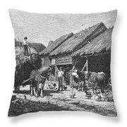 Canada: Farming, 1883 Throw Pillow