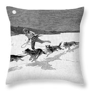 Canada: Fur Trade, 1892 Throw Pillow