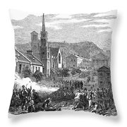 Canada: Gavazzi Riot, 1853 Throw Pillow