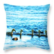 Canada Geese Family II Throw Pillow