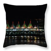 Canada Place Convention Center Throw Pillow