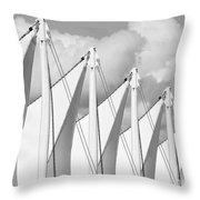 Canada Place Sails Throw Pillow