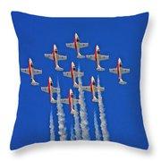 Canadian Air Force - Snowbirds Throw Pillow