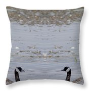 Canadian Goose Symmetry Throw Pillow