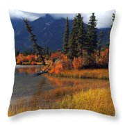 Canadian Landscape Throw Pillow