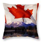 Canadian Mountains Throw Pillow