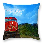 Canadian Northern Railway Train Throw Pillow