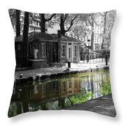 Canal Saint Martin Throw Pillow