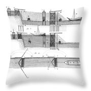 Canals: Languedoc Canal Throw Pillow by Granger