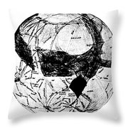 Canals Of Mars, Lowell, 1909 Throw Pillow