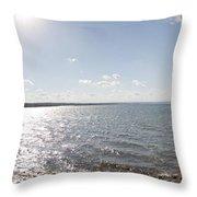Canandaigua Lake Panorama Throw Pillow