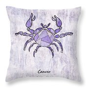 Cancer Artwork Throw Pillow