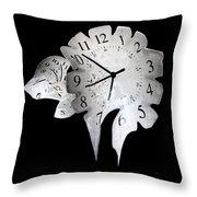 Candle Clock Throw Pillow