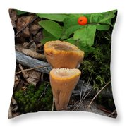 Candle Fungus Throw Pillow