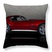 Candy Apple Corvette Throw Pillow