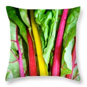 Candy Color Greens Throw Pillow