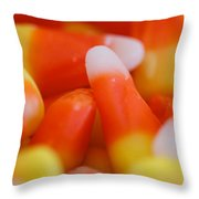 Candy Corn One Throw Pillow