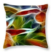 Candy Lily Fractal Panel 2 Throw Pillow