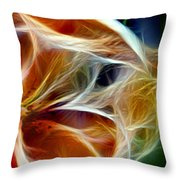Candy Lily Fractal Panel 3 Throw Pillow