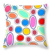 Candy Spots Throw Pillow