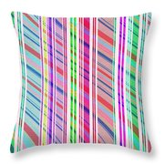Candy Stripe Throw Pillow
