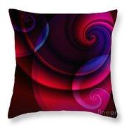 Candy Swirls Throw Pillow