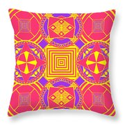 Candy Wrapper Throw Pillow