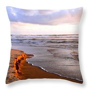 Cannon Beach Painting Throw Pillow