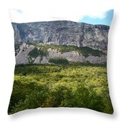 Cannon Cliff From Boise Rock New Hampshire Throw Pillow